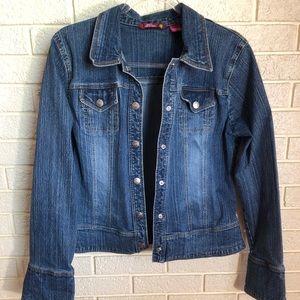 SO denim jacket. EUC. Women's size XL